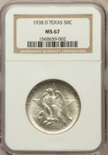Commemorative Silver: , 1938-D 50C Texas MS67 NGC. NGC Census: (90/3). PCGS Population(78/1). Mintage: 3,775. Numismedia Wsl. Price for problem fr...