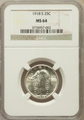 Standing Liberty Quarters: , 1918-S 25C MS64 NGC. NGC Census: (147/88). PCGS Population(191/79). Mintage: 11,072,000. Numismedia Wsl. Price for problem...