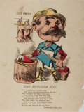 "Books:Americana & American History, [Americana] 19th Century Hand-Colored Illustration ""The ButcherBoy"". 7"" x 9.5"", published by McLoughlin Brothers, New York...."