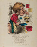 "Books:Americana & American History, [Americana] 19th Century Hand-Colored Illustration ""The Grocer"". 7""x 9.5"", published by McLoughlin Brothers, New York. Illu..."