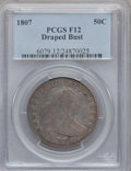 Early Half Dollars: , 1807 50C Draped Bust Fine 12 PCGS. PCGS Population (82/1062). NGCCensus: (70/1545). Mintage: 301,076. Numismedia Wsl. Pric...