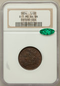 Half Cents, 1834 1/2 C MS64 Brown NGC. CAC. B-1. NGC Census: (82/24). PCGSPopulation (59/16). Mintage: 141,000. Numismedia Wsl. Price ...