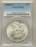 Morgan Dollars: , 1890-CC $1 MS62 PCGS. PCGS Population (2238/5777). NGC Census:(1303/2701). Mintage: 2,309,041. Numismedia Wsl. Price for p...