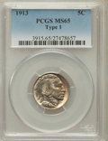 Buffalo Nickels: , 1913 5C Type One MS65 PCGS. PCGS Population (3238/2236). NGCCensus: (2374/1506). Mintage: 30,993,520. Numismedia Wsl. Pric...