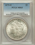 Morgan Dollars: , 1879-O $1 MS63 PCGS. PCGS Population (3229/2310). NGC Census:(2066/1499). Mintage: 2,887,000. Numismedia Wsl. Price for pr...