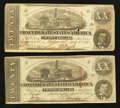 Confederate Notes:1863 Issues, T58 $20 1863, Two Examples.. ... (Total: 2 notes)