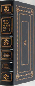 Books:Biography & Memoir, Helen Thomas. LIMITED/SIGNED. Front Row at the White House. MyLife and Times. Easton Press, 1999. First edition...