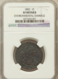 Large Cents: , 1802 1C -- Environmental Damage -- NGC Details. XF. NGC Census:(34/121). PCGS Population (53/104). Mintage: 3,435,100. Num...