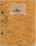 "Movie/TV Memorabilia:Documents, A Cast Signed Script from ""David Copperfield.""..."