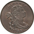 Large Cents, 1798 1C Second Hair Style AU58 NGC. S-184, B-45, R.1....