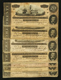 Confederate Notes:1864 Issues, T67 $20 1864, Seven Examples.. ... (Total: 7 notes)