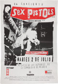 "Music Memorabilia:Posters, Sex Pistols ""Filthy Lucre Tour"" Subway Poster (Spain, 1996)...."