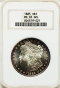 Morgan Dollars: , 1885 $1 MS65 Deep Mirror Prooflike NGC. NGC Census: (203/59). PCGSPopulation (302/72). Numismedia Wsl. Price for problem ...