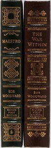 Books:Americana & American History, Bob Woodward. Two LIMITED/SIGNED Leather Bound Easton PressEditions. Including: The War Within. A Secret White House Hi...(Total: 2 Items)