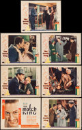 "Movie Posters:Drama, The Match King (First National, 1932). Title Lobby Card & LobbyCards (6) (11"" X 14""). Drama.. ... (Total: 7 Items)"
