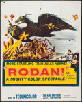 "Movie Posters:Science Fiction, Rodan! The Flying Monster (Toho/ DCA, 1957). Partial Three Sheet(41"" X 53""). Science Fiction.. ..."