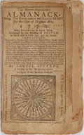 Books:Americana & American History, [Americana] Samuel Stearns. The North American's Almanack1772. R. Draper, [no date]. Printed wrappers, string b...
