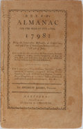 Books:Americana & American History, [Americana] Beers's Almanac for the Year of Our Lord 1798.Hudson & Goodwin, [no date]. Printed wrappers, string...