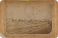 Photography:Cabinet Photos, Dodge City, Kansas: Rare and Early Cabinet Card, a Street Scene of the Legendary Wild West Frontier Town, Circa 1875. ...