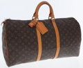 Luxury Accessories:Travel/Trunks, Louis Vuitton Classic Monogram Canvas Keepall 55 WeekenderOvernight Bag. ...