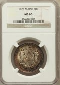 Commemorative Silver: , 1920 50C Maine MS65 NGC. NGC Census: (863/312). PCGS Population(920/430). Mintage: 50,028. Numismedia Wsl. Price for probl...