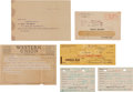 Movie/TV Memorabilia:Documents, A Lucille Ball and Desi Arnaz-Related Group of Documents, 1950s....(Total: 6 Items)