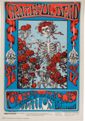 "Music Memorabilia:Posters, Grateful Dead ""Skeleton And Roses"" Avalon Ballroom Concert PosterFD-26 (1966). ..."