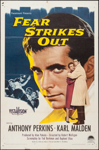 "Fear Strikes Out (Paramount, 1957). One Sheet (27"" X 41"") & Lobby Cards (7) (11"" X 14""). Dra..."