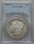 Morgan Dollars: , 1879-CC $1 XF40 PCGS. PCGS Population (209/2828). NGC Census:(103/1521). Mintage: 756,000. Numismedia Wsl. Price for probl...