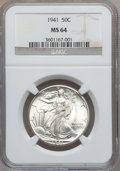 Walking Liberty Half Dollars, 1941 through 1947-D 50C MS64 NGC.... (Total: 20 coins)