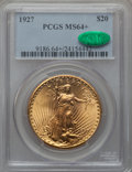 Saint-Gaudens Double Eagles: , 1927 $20 MS64+ PCGS. CAC. PCGS Population (44319/30567). NGCCensus: (51060/21356). Mintage: 2,946,750. Numismedia Wsl. Pri...