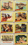 "Movie Posters:Action, The Vikings (United Artists, 1958). Lobby Card Set of 8 (11"" X14""). Action.. ... (Total: 8 Items)"