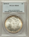 Morgan Dollars: , 1879-O $1 MS64 PCGS. PCGS Population (1998/312). NGC Census:(1342/157). Mintage: 2,887,000. Numismedia Wsl. Price for prob...
