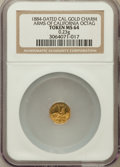California Gold Charms, 1884-Dated Octagonal Arms of California MS64 NGC. 0.23 gm....
