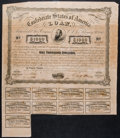 Confederate Notes:Group Lots, Ball 241 Cr. 122 Bond $1000 1863 Fine.. ...