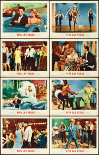 """Viva Las Vegas and Other Lot (MGM, 1964). Lobby Card Set of 8 (11"""" X 14"""") and One Sheet (27"""" X 41"""")..."""