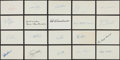 Baseball Collectibles:Others, Baseball Stars Signed Index Cards Lot of 41....