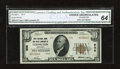 National Bank Notes:Kentucky, Lexington, KY - $10 1929 Ty. 2 First NB & TC Ch. # 906. Starkwhite paper, embossing, and dark inks contribute to the ae...