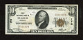 National Bank Notes:Missouri, Saint Louis, MO - $10 1929 Ty. 1 First NB Ch. # 170. A spindle holeand a moisture spot on the back are noticed. Very ...