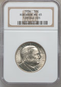 Commemorative Silver: , 1936 50C Robinson MS65 NGC. NGC Census: (789/235). PCGS Population(1065/487). Mintage: 25,265. Numismedia Wsl. Price for p...