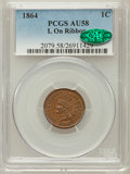 Indian Cents: , 1864 1C L On Ribbon AU58 PCGS. CAC. PCGS Population (76/194). NGCCensus: (101/296). Mintage: 39,233,712. Numismedia Wsl. P...