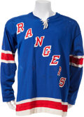 Hockey Collectibles:Uniforms, 1974-76 Brad Park Game Worn New York Rangers Jersey....