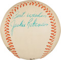 Autographs:Baseballs, Circa 1960 Jackie Robinson Single Signed Baseball....