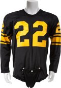 Football Collectibles:Uniforms, 1962 Bobby Layne Game Worn Pittsburgh Steelers Jersey, MEARSA10....