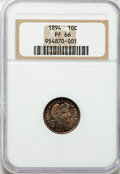 Proof Barber Dimes: , 1894 10C PR66 NGC. NGC Census: (44/30). PCGS Population (37/24).Mintage: 972. Numismedia Wsl. Price for problem free NGC/P...