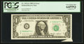Error Notes:Attached Tabs, Fr. 1913-G $1 1985 Federal Reserve Note. PCGS Very Choice New64PPQ.. ...