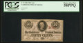 Confederate Notes:1863 Issues, Fully Framed T63 50 Cents 1863.. ...