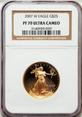 Modern Bullion Coins, 2007-W G$25 PR70 Ultra Cameo NGC. NGC Census: (0). PCGS Population(232). Numismedia Wsl. Price for problem free NGC/PCGS ...