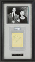 Autographs:Others, Circa 1954 Joe DiMaggio & Marilyn Monroe Signed Album Page....