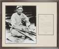 "Autographs:Letters, 1923 Letter to ""Shoeless Joe"" Jackson from His Lawyer Regarding 1919 World Series Scandal...."